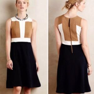 Anthropologie Maeve Color Block Sweater Dress 6
